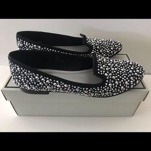 Silver Rhinestones loafers
